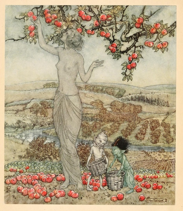 Arthur Rackham illustration of Pomona