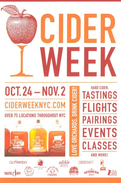 Cider Week NYC Postcard 2014