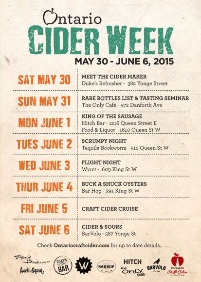 Ontario Cider Week 2015 Flyer