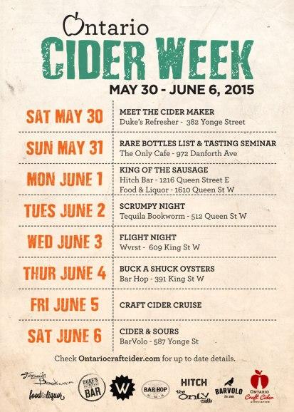 Ontario Cider Week 2015 Flyer